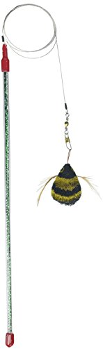 GoCat Cat Catcher Da Bee Cat Toy, Handmade in The USA (1 Bee) ()