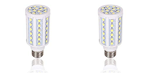 2 Pack Medium Base 12 Volt LED Light Bulb DC 12V-20V Screw Base Camper Outdoor RV NiMh Lithium Deep Cycle Battery Emergency Work Lamp Off Grid Outdoor Solar Landscape Lighting 60x 5050 E26(Warm White)