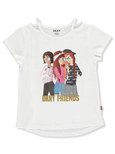 DKNY Girls' T-Shirt - White, 7
