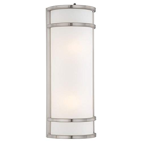 Minka Lavery Outdoor 9803-144-PL, Bay View Outdoor Wall Sconce Light, 52w Fluorescent, Steel