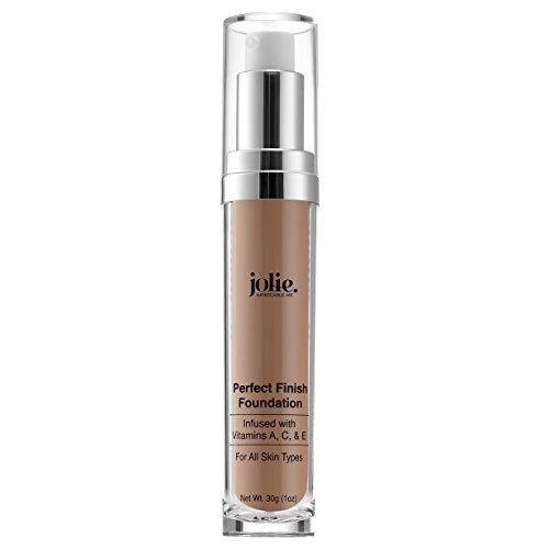Jolie Perfect Finish Liquid Foundation Makeup SPF 15 Oil Free (MC1) (Bisque Liquid Minerals Foundation)