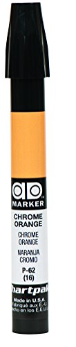 Chrome Markers - The Original Chartpak AD Marker, Tri-Nib, Chrome Orange, 1 Each (P62)