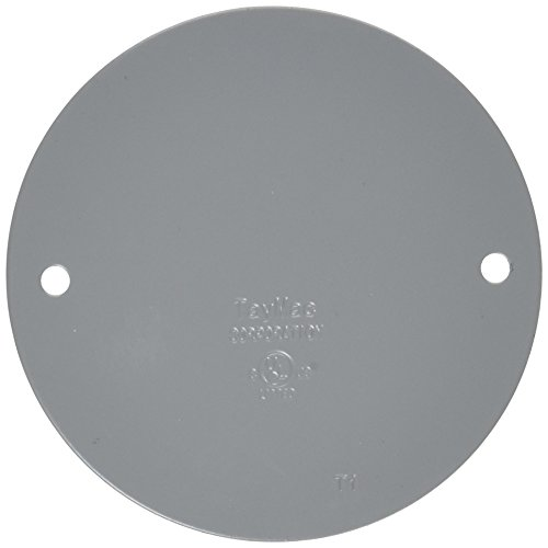 (TayMac BC300S Weatherproof Metallic Device Cover, Blank, Round, Gray)