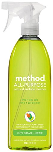 - Method Naturally Derived All Purpose Surface Cleaner Spray, Lime + Sea Salt, 28 Ounce