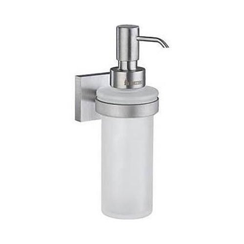 House Frosted Glass Soap Dispenser w Brushed Chrome Hardware by Smedbo