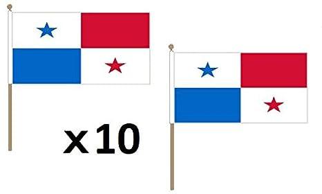 AZ FLAG Bandera de PANAMÁ 45x30cm con Palo de Madera - Lote ...