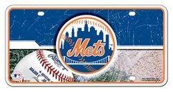 (MLB New York Mets Metal Auto Tag)