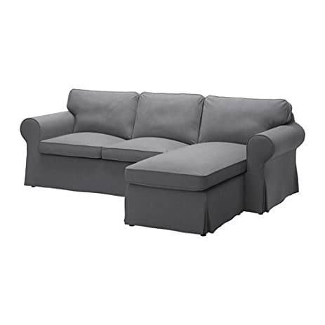 Ikea Cover For 3 Seat Sectional, Nordvalla Dark Gray 1228.8811.638