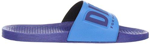 Flip Flop Diesel Freestyle Blu Chiaro Vivido Mens New Beach Infradito