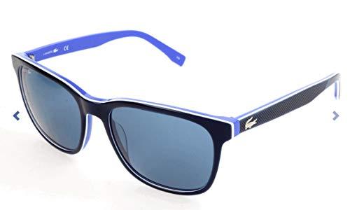 Lacoste Unisex L833S Rectangular Sunglasses, Blue, 55 ()