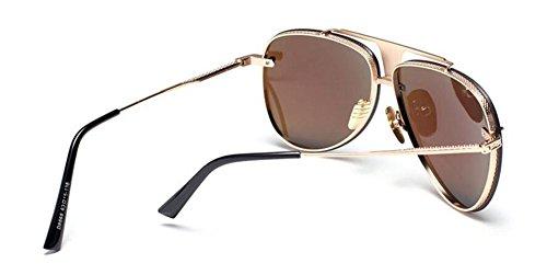 du lunettes métallique rond Lennon soleil Bleu vintage retro style cercle de en Film inspirées polarisées xfrBwIpqZf