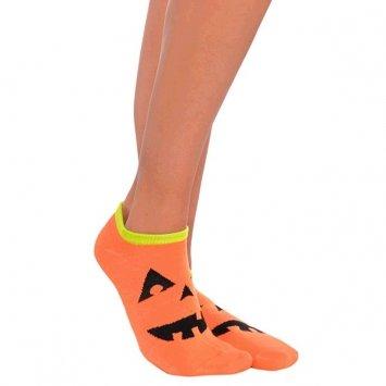 Amscan 394234 Jack-O-Lantern Halloween Ankle Socks, One Size, As Shown (Pack of 12) (Pumpkin Socks)