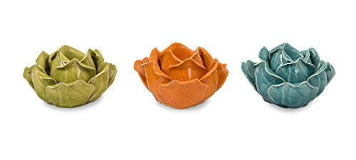 IMAX Corporation 64017-3 Chelan Flower Candle Holders in Gif
