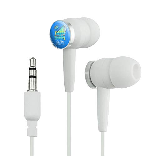 GRAPHICS & MORE Gulf Stream Outfitters Yellowfin Ahi Tuna Ocean Fishing Novelty in-Ear Earbud Headphones - White (Fin Wht)