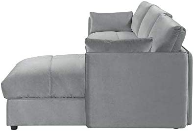 Amazon.com: Rabinyod Bulan Modern Living Room Velvet L Shape ...
