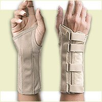 FLA Orthopedics 22-560SMBEG Soft Form Elegant Wrist Support Right Beige, Small