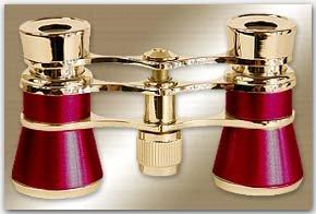 Aida Opera Glasses Finish: Burgundy/Golden by LaScala Optics