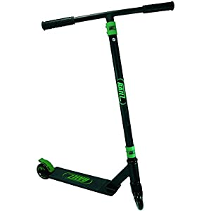 RAILZ Pro BD-5.0 Street Kick Scooter - Black & Green, Best High Performance Super Duty Compact Kick Scooter, Best Toys Christmas Gift, Skate, Scoot, Skatepark