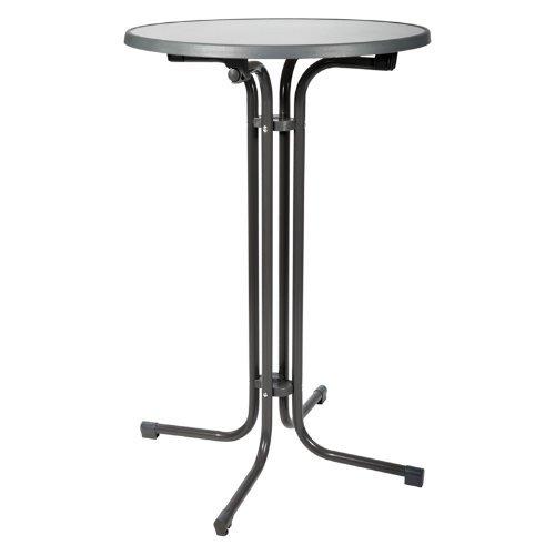 STEHTISCH Bellini Ø 80cm -Bartisch/Bistro-Tisch klappbar grau 110 cm - verstellbarer Fuß - alle Größen