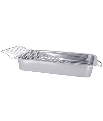 Amazon.com: Stainless Steel Deep Roasting Pan | Baking tray with grill | Roasting Pan | Roaster - 35x26 cm: Kitchen & Dining