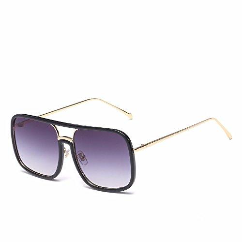 Sol Sol de de Ojos Personalidad Mujer polarizadas A D Gafas Hombre Intellectuality Gafas Retro de EZzpw