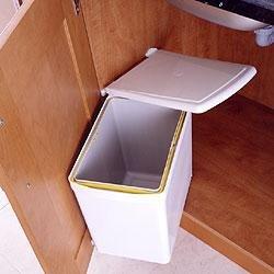 Under sink waste bin, 16 litre, white: Amazon.co.uk: Kitchen & Home