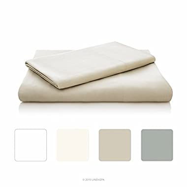 LINENSPA Ultra Soft Luxury 100% Rayon from Bamboo Sheet Set - Queen - Sand