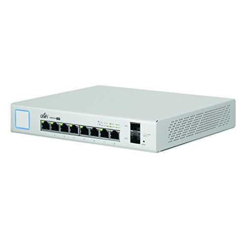 Ubiquiti Networks 8-Port UniFi Switch, Managed PoE+ Gigabit Switch with SFP, 150W (US-8-150W)