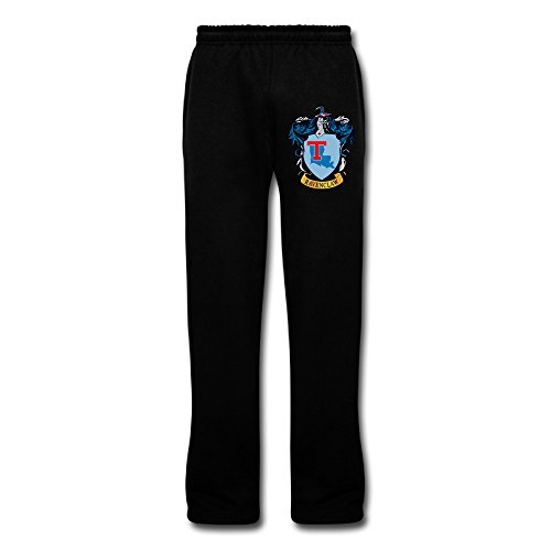 [PKTWO Louisiana Tech University Ravenclaw Crest Men's Training Sweaterpant Sports Pants] (Ravenclaw Mascot)