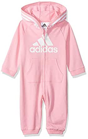 adidas Baby Girls Coverall, Light Pink Ap, 18M