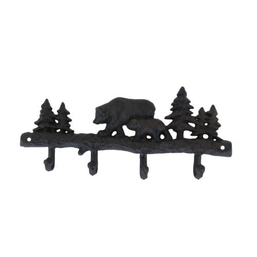 - Cast Iron Black Bear Wall Mount Coat Hook