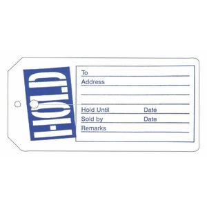Retail Hold Tags Fit Most Hangers, Box of 1000