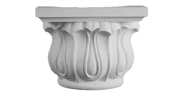 Half Capital Made from Dense Architectural Polyurethane Compound 7 inch Shaft DreamWallDecor Decorative Interior Column