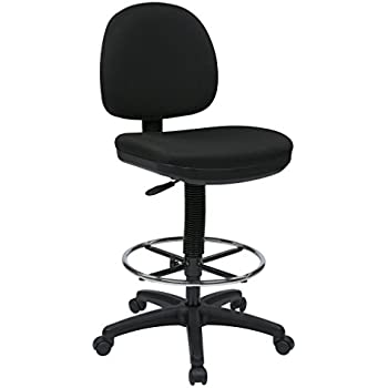 Amazon Com Office Star Drafting Chair With Lumbar Support