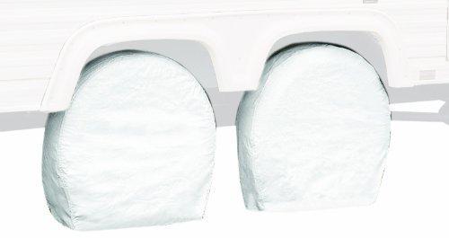 Classic Accessories 76240 RV Wheel Cover Pair White 26.75 29 Wheel Diameter [並行輸入品] B06Y684TGN