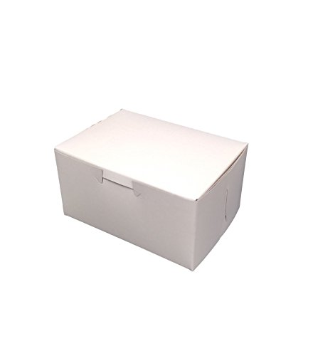 MT Products 5.5'' x 4'' x 3'' Clay Coated Kraft Paperboard White Non-Window Lock Corner Bakery/Treat Box (Pack of 20) by MT Products