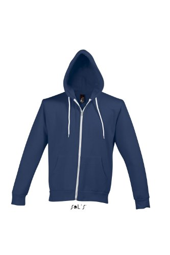 SOL´S Hooded Zipped Jacket Silver, Größe:L, Farbe:Abyss Blue
