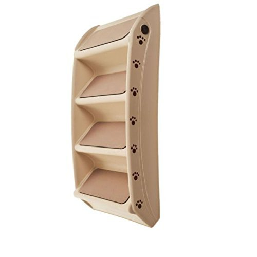 Foldable Pet Stairs Dog Cat up to 100 Pounds 4 Steps 19 Inch High 15 Inch Wide