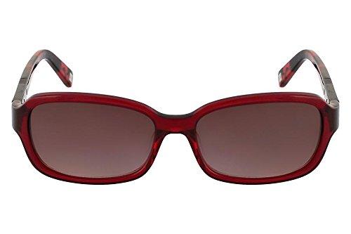 Óculos De Sol Nine West Nw565S 612/57 Vermelho Transparente