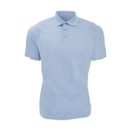 Glenmuir Mens Plain Mercerized Short Sleeve Polo Shirt (XL) (Light Blue)