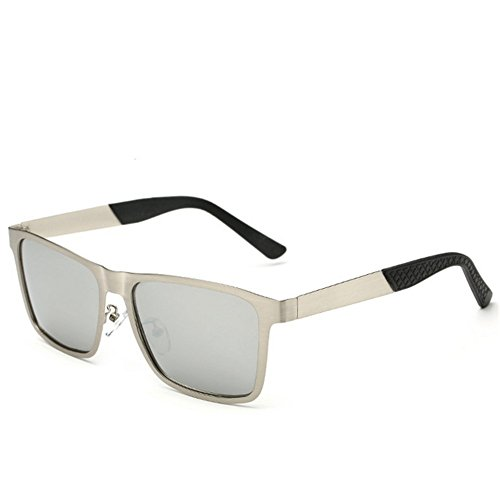 A-Roval Men Polarized Rectangular Large Fashion Metal - Cheap Find To Where Bans Ray