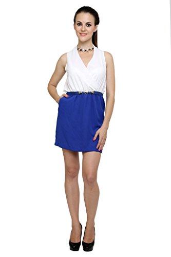 Robe De Bloc De Femmes Anasazi Bleu Et Blanc