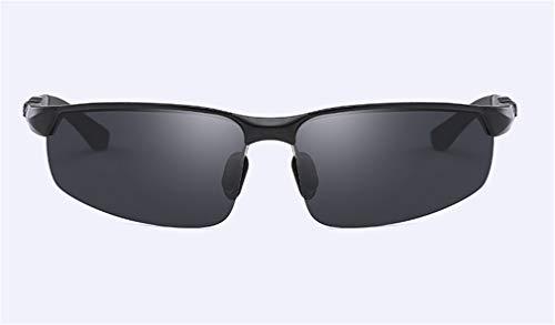 XIYANG Sport Light Black Metal de la de Ultra Black Hombres Sol Personalidad Moda Conducción Al Polarized Frame Gafas MG raqwCYr