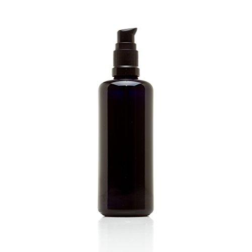 Infinity Jars 100 Ml (3.4 fl oz) Black Ultraviolet Glass Push Pump Bottle
