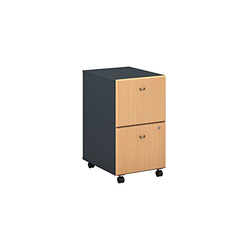 Bush Business Furniture Series A 2 Drawer Mobile File Cabinet in Beech and ()