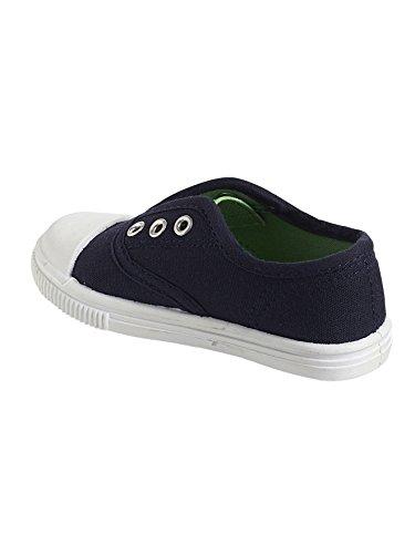 Vertbaudet Sneakers für Jungen, Stoff Dunkelblau