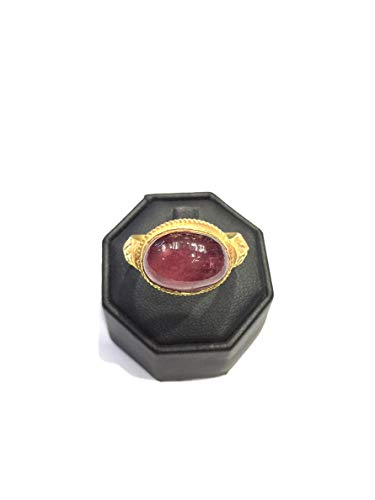 Natural Beautiful Ruby Antique Old Rare Ring Size 10US 22k Gold 8.38 Grams Middle Eastern Vintage Jewelry ()