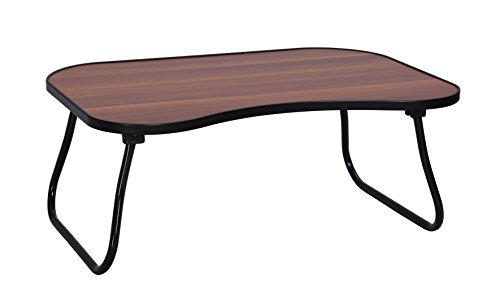 MULSH Laptop Desk Bed Table Notebook Table Bed Tray Table Breakfast Serving Tray For Sofa Bed with Foldable Metal Legs and MDF Top Board in Walnut,23.62''W X15.75''D X9.65'' H by MULSH