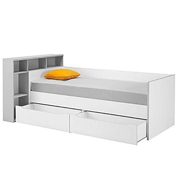 tousmesmeubles lit banquette 2 tiroirs tte de lit 90 200 cm jewel - Lit Banquette