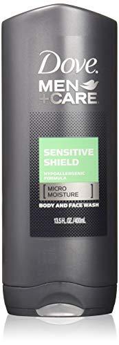 Dove Cleanser - Dove Men + Care Body & Face Wash, Sensitive Shield 13.50 oz (Pack of 3)
